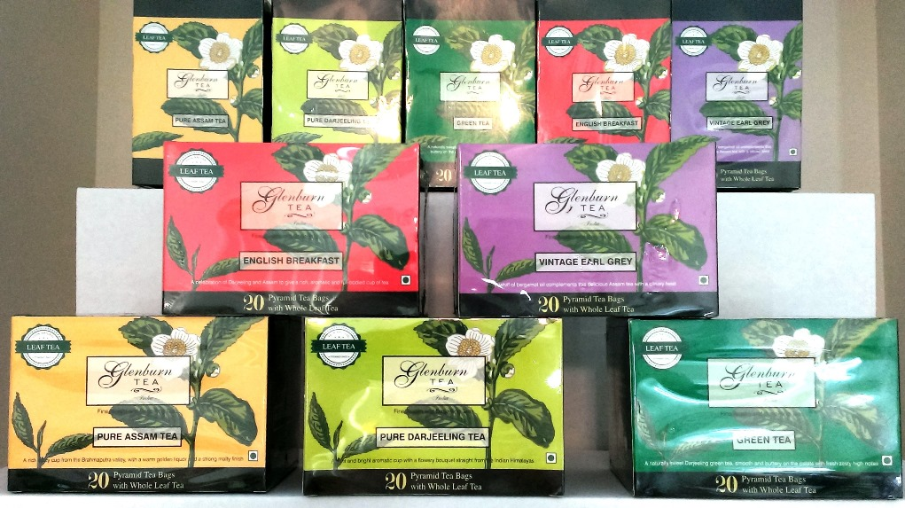 Glenburn Leaf Teas in Pyramid Sachets in boxes of 20