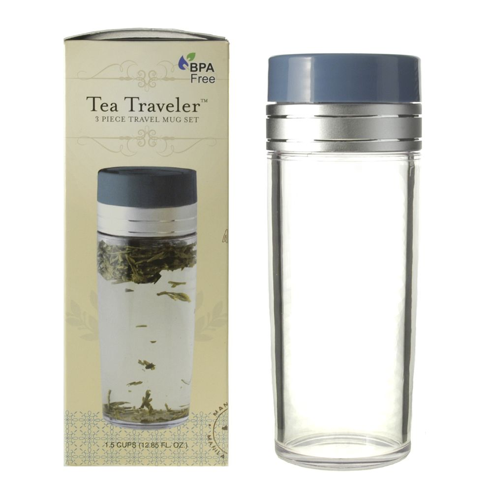 Tea Traveler 3-piece Travel Mug Set · (with box)  sc 1 st  KTeas & Tea Traveler 3-piece Travel Mug Set